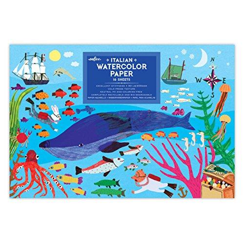 eeBoo In The Sea Watercolor Paper Pad