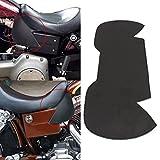 Jade Plain Leather Heat Shield Deflectors For Honda Suzuki Kawasaki Yamaha Victory