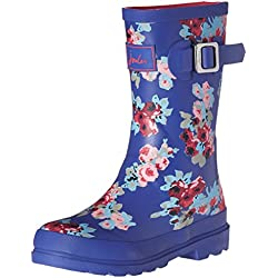 Joules Girls' Jnrgirlswelly Rain Boot, Navy Floral, 3 M US Little Kid