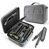 Travel Storage Case Compatible with Nintendo Switch, tomtoc Protective System Carrying Hard Case Shoulder Bag fit for Switch Console, Pro Controller, 32 Games, Dock