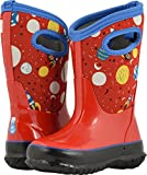 Bogs Baby Classic Printed NEO-TECH Snow Boot, Space red/Multi, 7 Medium US Toddler