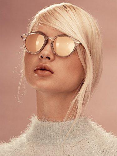 Linda Farrow Luxe 24K Gold Acetate Round - Frames Linda Farrow