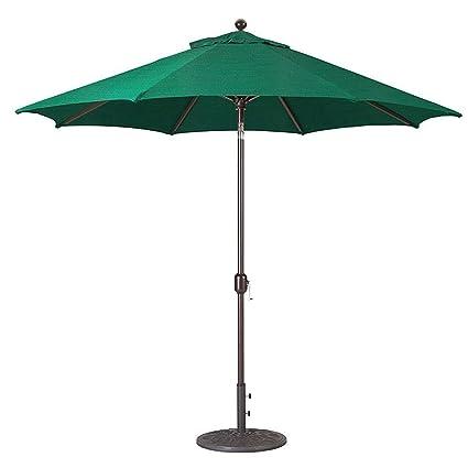 Attrayant Galtech 9 Ft. Aluminum Deluxe Auto Tilt Patio Umbrella, Black Pole