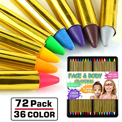 Paintings Of Halloween (72 Pack 36 Color Face and Body Paint Crayon 3