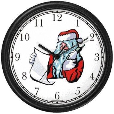 Amazon.com: Santa Claus with List on Phone Christmas Theme Wall ...