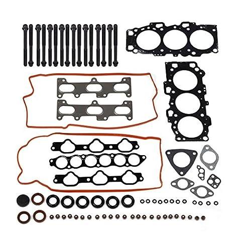 PartsSquare Head Gasket Set Bolts For 01-03 Hyundai Kia V6 2.7 DOHC 24V - Dohc 24v Head Gasket