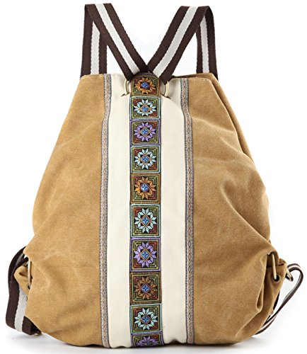 Women Canvas Backpacks Daypack Casual Shoulder Bag, Shool Bag Laptop Backpack
