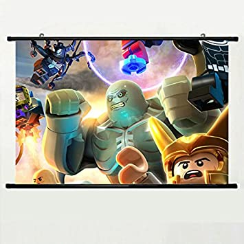 Wall Scroll Poster With Lego Marvel Super Heroes Lego Super Villains Heroes Marvel  Home Decor Wall