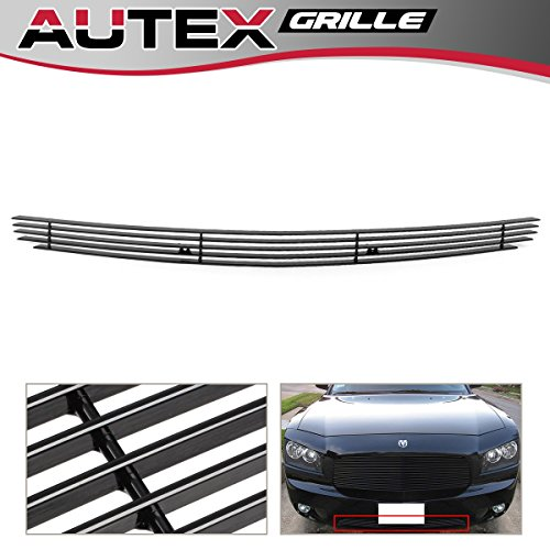 AUTEX Black Main Upper Lower Bumper Billet Grille Combo Compatible With 2008 2009 2010 2011 2012 Chevy Malibu Grill Insert C61015H
