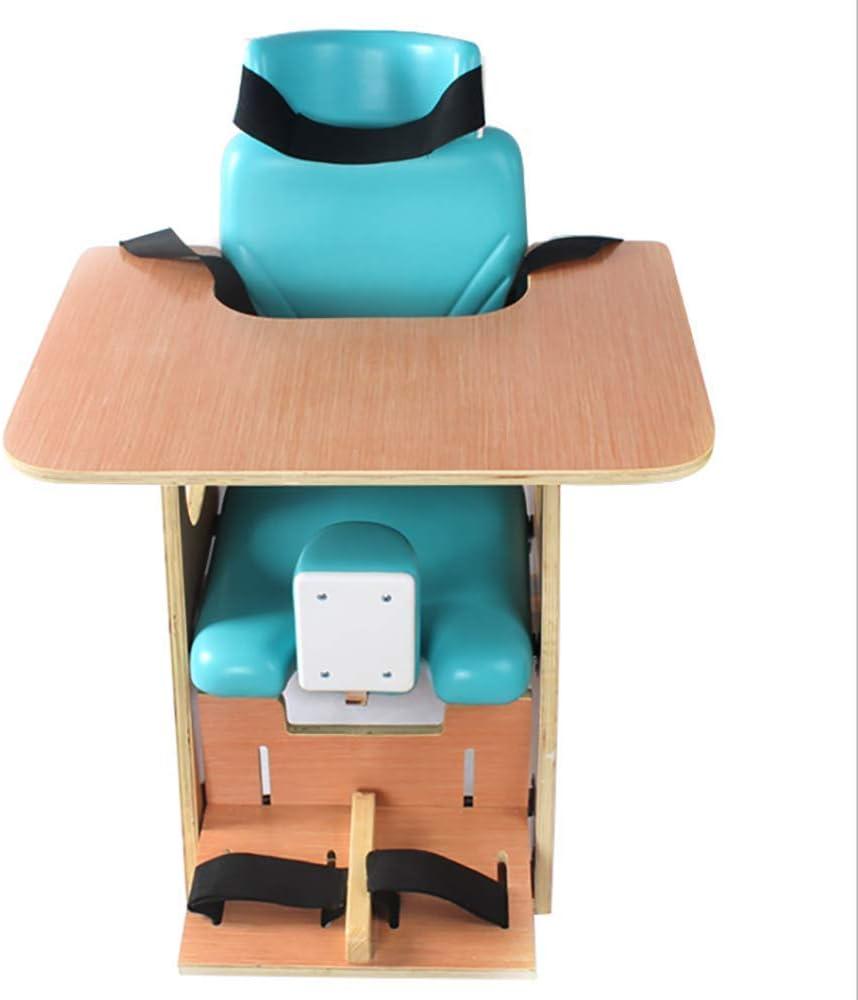 Walker Silla de corrección de Asiento Ajustable para niños Silla de Entrenamiento de rehabilitación Infantil Anti-deformación con Mesa de Comedor