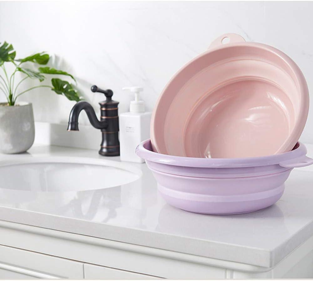 Jkhome Collapsible Wash Basin Folding Dishpan Dish Bowl Washing Tub Set of 1 Light Blue - Large
