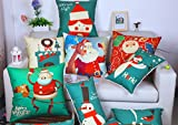 Slimmingpiggy Christmas Valentine Day Pillow Covers 18 X 18 Inches / 45 By 45 Cm Best Choice For Seat Christmas Chair Kids Boys Car Teens Girls With 2 Sides