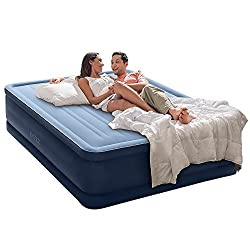 """Intex Premaire Series Robust Comfort Airbed with Built-In Electric Pump, Bed Height 20"""", Queen - Amazon Exclusive"""