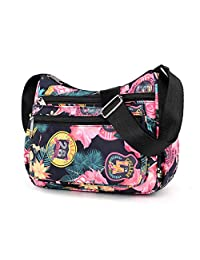 TOTZY Waterproof Crossbody Purse Bags for Women Travel Shoulder Bag Peony Flower