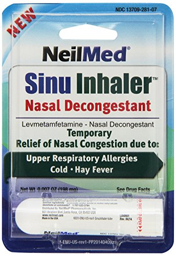Neilmed Sinu Inhaler Nasal Decongestant, 0.007 Ounce (Best Oral Steroid With Least Side Effects)