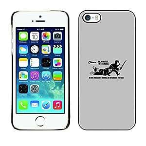 A-type Arte & diseño plástico duro Fundas Cover Cubre Hard Case Cover para iPhone 5 / 5S (No pase Landing Funn Cita del Rey)