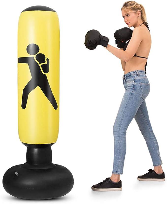 Honelife Saco inflável do boxe do PVC de 5.2ft saco de perfuração inflável do saco do alvo do encaixotamento da aptidão por Honelife