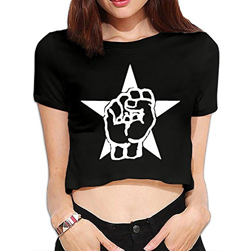 TLK Custom Women Rage Against The Machine Star Logo Midriff Tshirt