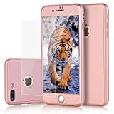 3d type book - iPhone 7 Plus case, VPR 2 in 1 Ultra Thin Full Body Protection Hard Premium Luxury Cover [Slim Fit] Shock Absorption Skid-proof PC case for Apple iPhone7 Plus (5.7inch) (RoseGold)