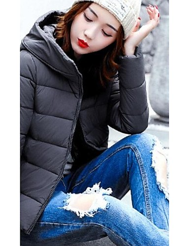 Coat Long l Sleeve out Daily Casual amp;SHANGYI Acrylic Going Polyester wine Women's Cotton Solid Simple TT Sexy Polyester Padded Work Cute t4ATB