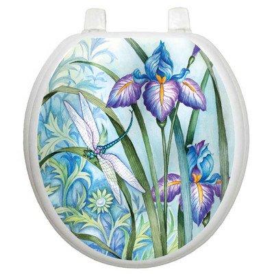 Toilet Tattoos Iris Beauty Decorative Applique for Toilet Lid