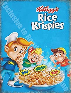 Kelloggs Rice Krispies large embossed metal sign   400mm x 300mm na