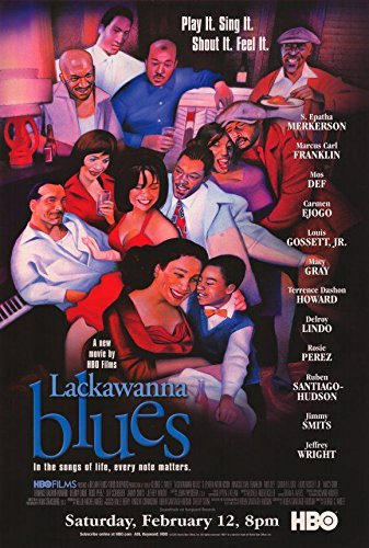 Promotional 2005 Movie Cast Illustrated **PRINT AD** For Lackawanna Blues
