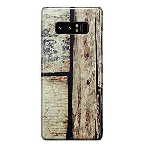 Samsung Note 8 case Old Barn Door Wood Print Rustic Effect Slim Profile Clear Wrap Around Phone Cover