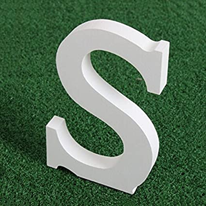 15 cm casa SUNEVEN Alfabeto de letras de madera blanca fiesta 15 cm 26 letras del alfabeto decoraciones modernas para boda A madera blanca pura cumplea/ños