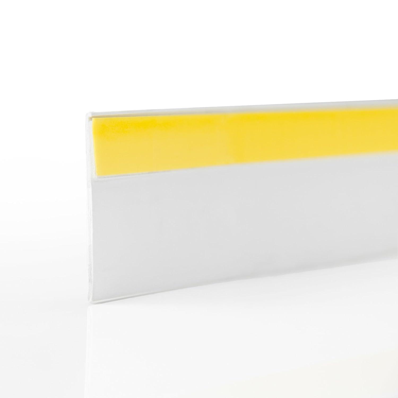 1,5mm Breite 60mm Fensterleiste selbstklebend weiss St/ärke 10m