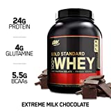Optimum Nutrition Gold Standard 100% Whey Protein, Extreme Milk Chocolate, 5 Lb