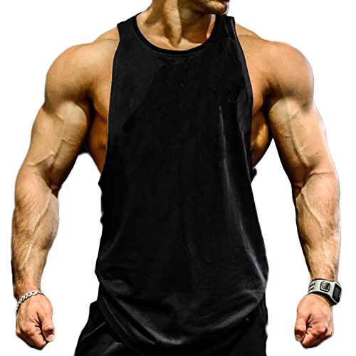 bec3deef1e9 Magiftbox Mens Gym Tank Tops Muscle Cut Stringer Bodybuilding Workout  Sleeveless Gym Shirts