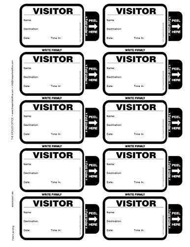 TSO 500 Badge Visitor Sign in Security Book Confidential Register with 3