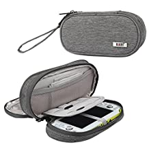BUBM Video Game Storage Case for Sony PSV, Protective Carrying Bag, Portable Travel Organizer Case for PSV and Other Accessories,Gray