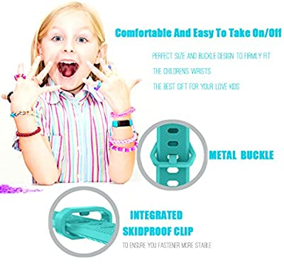 GOSETH Compatible Fitbit Ace Band, Fitbit Ace Accessories Bands Watch Buckle Design Replacement Strap Compatible Fitbit Ace Fitness Tracker for Kids 8+
