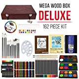 US Art Supply 162 Piece-Deluxe Mega Wood Box