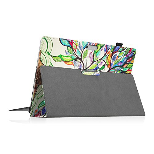 Fintie Case for Surface Pro 7 / Pro 6 - Premium Vegan Leather Slim Fit Folio Cover with Stylus Holder, Compatible with Microsoft Surface Pro 5 / Pro 4 / Pro 3 and Type Cover Keyboard (Love Tree)