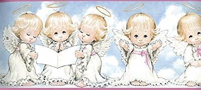 White Baby Angels Blessing Wallpaper Border 92241 GU