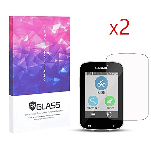 Elecguru Garmin Edge 820 Screen Protector, Garmin 820 Edge Tempered Glass Screen Protector for Garmin 820,Anti-Scratch, Anti-Fingerprint, Bubble Free (2 Pack) ()