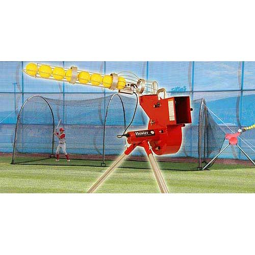 Heater Sports Combo Pitching Machine And Xtender 24' Batting Cage (Cage Machine Pitching And)