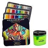 Image of Prismacolor Premier Soft Core Colored Pencil, Set of 72 Assorted Colors (3599TN) + Prismacolor Scholar Colored Pencil Sharpener (1774266)
