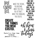 """Stampers Anonymous CMS252 Ponderings Tim Holtz Cling Stamps, 7"""" by 8.5"""", Clear"""
