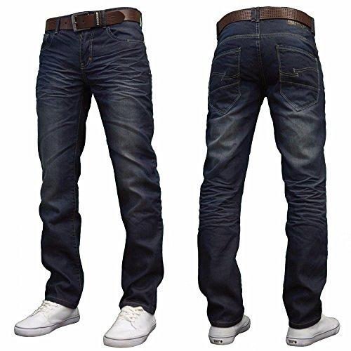 Nouvelle Black Jambe Farrow En Marqués Noires La Stonewash Jeans Mens Grise Denim Crosshatch Dark Régulière Droite Forme De UEqBHE