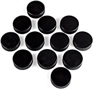 Crown Sporting Goods Ice Hockey Pucks Official Size, 6-Ounce, 12-Set