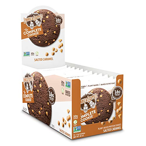 Lenny & Larry's The Complete Cookie, Salted Caramel, 4 Ounce Cookies - 12 Count, Soft Baked, Vegan and Non GMO Protein Cookies