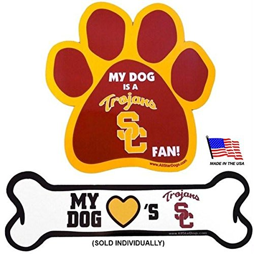 (Pet Care Preferred USC Trojans Car Magnets - Paw)