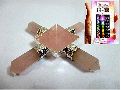 Jet Exquisite Rose Quartz Pyramid Energy Generator