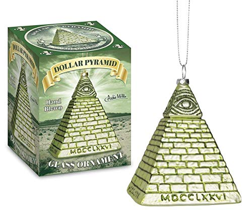 All Seeing Eye Dollar Pyramid Christmas Tree Ornament (Illuminati Christmas Tree)
