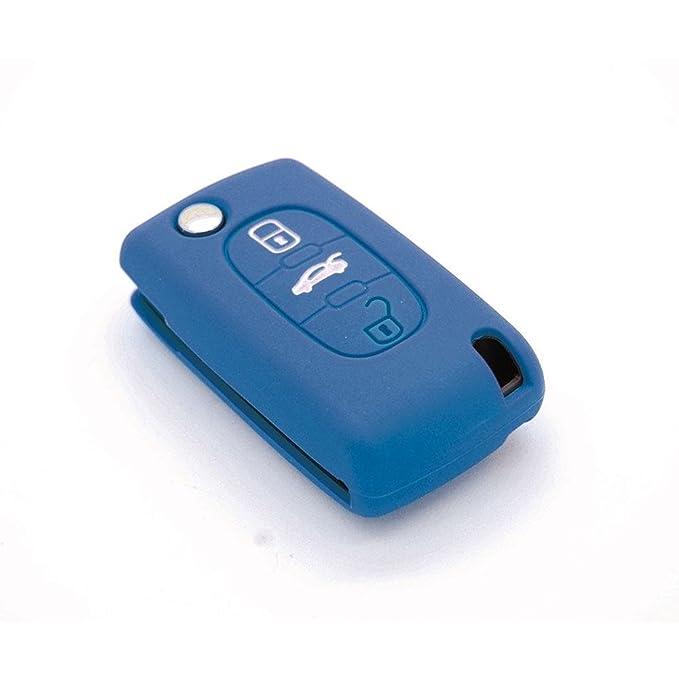 Funda de llave de silicona para Citroën C1 C2 C3 C4 C5 3 botones