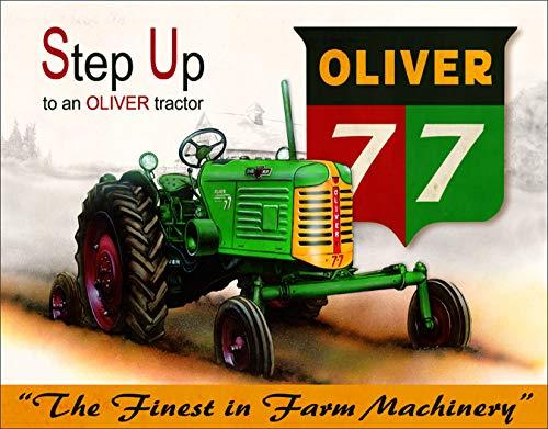 (Desperate Enterprises Oliver 77 Tractor Tin Sign, 16